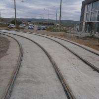 Linia din apropierea depoului încă nu este finalizată/Foto:Radu Bărăian