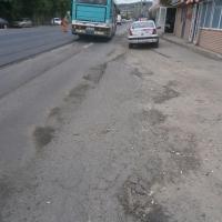 Drum impracticabil în mai multe zone ale Bulevardului Muncii/Foto:Radu Bărăian