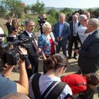 Ministrul împreună cu reprezentanţii instituţilor din Cluj în vizită pe şantier/Foto:Laura Goarnă