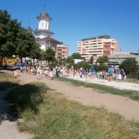 Un grup de copii în parc/Foto: Radu Bărăian