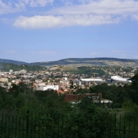 Panorama orașului, văzută din parc/Foto:Radu Bărăian