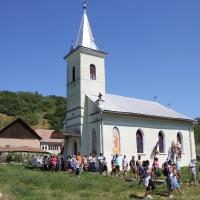 Popas la biserica din Pâclişa/Foto: Dan Bodea