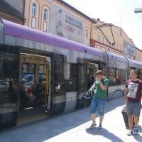 Unul din tramvaiele dotate cu aer condiționat/Foto: Radu Bărăian