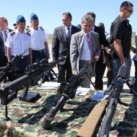 Ministrul Apărării, Mircea Dușa, a asistat la demonstrație