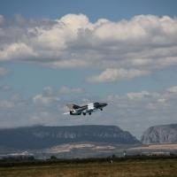 Exercițiu cu MiG-uri de Ziua Aviaței, la aeroportul militar de la Luna