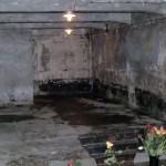 Camera de gazare de la lagărul din Auschwitz – Birkenau. Se estimează că peste 1 milion de bărbaţi,   femei,   copii au fost exterminaţi. Peste 90% au fost evrei.
