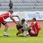 Mijlocașul Universității Cluj, Eduard Ciaparii, s-a accidentat în meciul cu Dinamo și va rata finalul campionatului / FOTO: Dan Bodea