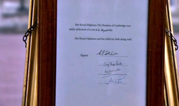 Anunțul de la Palatul Buckingham / Foto: Twitter @nycjim