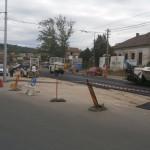 Lucrările la linia de tramvai de pe bulevardul Muncii/Foto: Radu Bărăian
