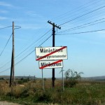 Ieșirea din comuna Mănăstireni
