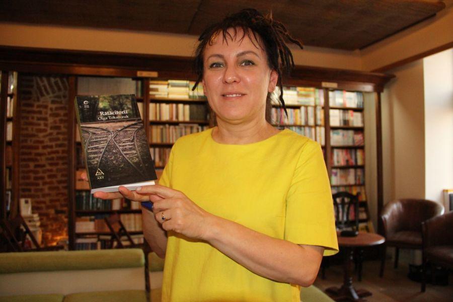 Olga Tokarczuk,   la librăria Book Corner din Cluj-Napoca/Foto: Dan Bodea