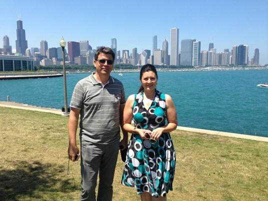 Primarul Radu Capilnasiu si consilierul local Rodica Pop Seling au ajuns la Chicago vinerea trecuta