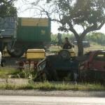 Accidentul a avut loc înainte de intrarea în localitatea Bobota (foto Olimpia Man)