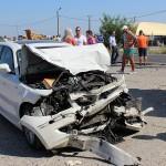 Mașini făcute praf în Dorolț. Victimele au scăpat ca prin minune