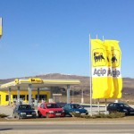 Benzinăria Agip din Florești,   locul jafului/ Foto: Facebook