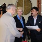 Cuplul Iudith și Vasile Csendes a fost felicitat de conducerea Primăriei