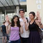 """Cei trei elevi de 10 de la Colegiul Național """"Emil Racoviță"""" din Cluj Napoca/Foto: Dan Bodea"""
