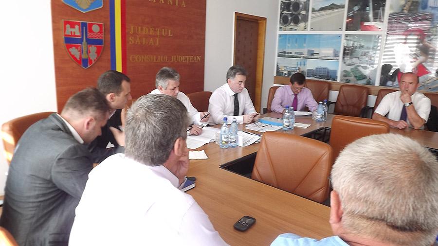 Întâlnirea a avut loc la Consiliul Judeţean Sălaj (Foto Instituţia Prefectului Sălaj)