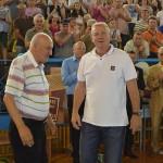 Profesor şi elev: Lascăr Pană alături de o altă legendă vie,   Maricel Voinea