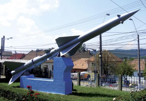 Racheta care omagiază memoria lui Oberth,   la Mediaș