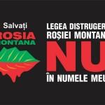 Ecologiștii protestează față de proiectului de exploatare de la Roșia Montană