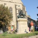 Statuia Sfântului Gheorghe,   reprezentat omorând balaurul,   este o copie a Statuii Sfântului Gheorghe din Praga/Foto: Dan Bodea