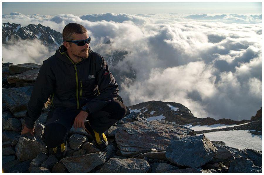 Adi Vălean, într-un moment de respiro în Alpi /Foto: Mihai Ciama