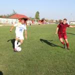 Gavrilescu (foto, în echipament deschis) a marcat singurul gol al sătmărenilor în amicalul cu Şoimii Pâncota