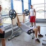 Un ultim antrenament fizic înaintea plecării în Serbia/ Foto: Dan Bodea