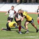 Rugby-iștii Universității Cluj au început perfect play-out-ul SuperLigii cu victorie pe terenul celor de la Dinamo, vineri întâlnesc CSM-ul din București/ FOTO: Dan Bodea