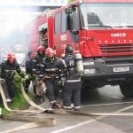 La exerciţiu au fost mobilizate importante forţe responsabile pentru situaţiile de urgenţă / Sursa foto: ronduldesibiu.ro