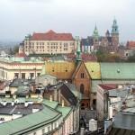 Castelul Wawel văzut din Turnul Primăriei