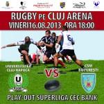 """RUGBY/ """"U"""" Cluj – CSM București se joacă pe Cluj Arena"""