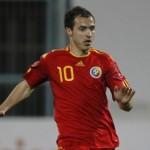 Bogdan Stancu a marcat unicul gol al României,   în amicalul cu Slovacia/ FOTO: ofsaid.ro