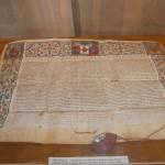 Brevetul emis îm 1518 de Papa Leon al X-lea/ Foto: Tia Sîrca