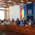 Delegația landului Darmstdt împreună cu reprezentanții administrației sătmărene