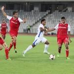 Eric,   în alb,   a alergat mult dar fără folos în meciul cu Braga,   portughezii s-au impus cu 1-0 pe Cluj Arena/ FOTO Dan Bodea