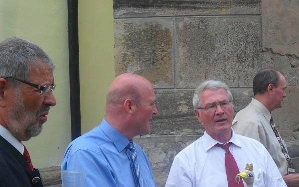 Hans Franchy (stânga) și Horst Gobbel (dreapta)