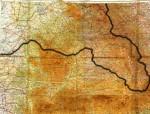FOTODOCUMENT. Harta Arbitrajului de la Viena din 30 august. Documentul poartă semnăturile miniștrilor de Externe ai Italiei,   Galeazzo Ciano,   și Germaniei,   Joachim von Ribbentrop,   și se află în arhiva Ministerului de Externe al României. Linia de frontieră a fost îngroșată digital,   pentru o mai bună observare.