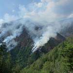 Incendiul a reizbucnit luni dimineaţă / Sursa foto: Prefectura Maramureş