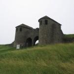Poarta reconstruită a castrului de la Porolissum