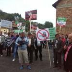 Borşeni la protest