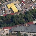 Someșul,   în zona platforemi industriale Carbochim/ Imagine: Google Maps