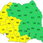 Cod galben de furtună în nordul județului Cluj