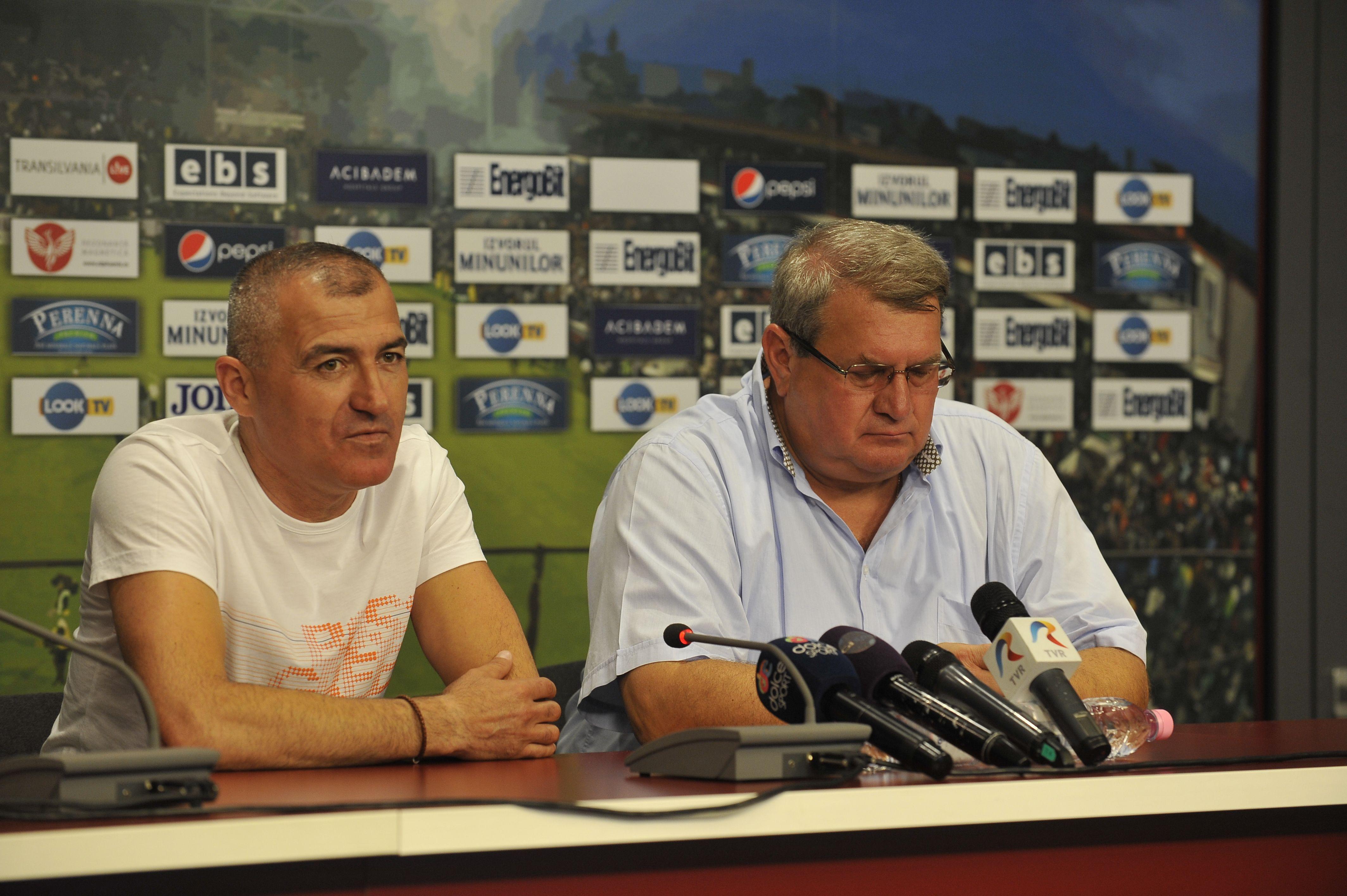 Petre Grigoraș nu a adus schimbarea de atitudine a echipei,   așteptată de președintele Iuliu Mureșan/ FOTO Dan Bodea