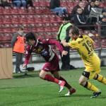 Rui Pedro (foto în vișiniu) a marcat singurul gol al CFR-ului în amicalul cu FC Brașov / FOTO Dan Bodea
