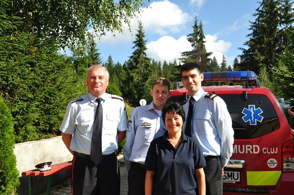 Vasile Şomlea, Dirk Kremer, Andrei Biriş şi Cornelia Platon la Muntele Baisorii/Foto: Arhiva personală Facebook