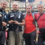 Echipa Expediţiei Manaslu 2013: Adi Vălean,    Vasile Cipcigan,   Mike Bowyer  şi Vlad Căpuşan/Foto: manaslu2013.ro