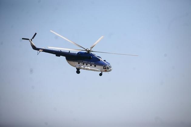 Un elicopter MAI a survolat Maramureşul
