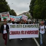 Băimărenii continuă protestele împotriva proiectului Roşia Montană